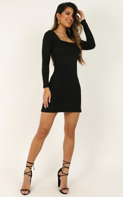 Ticking By Dress in black - 20 (XXXXL), Black, hi-res image number null