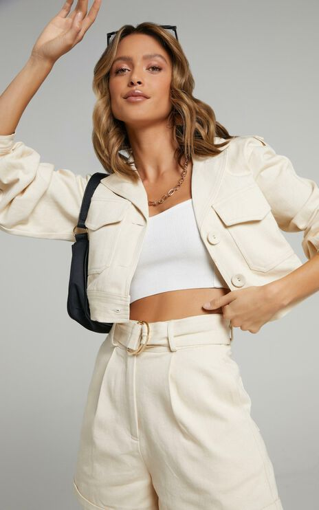 Charlie Holiday - Frankie Jacket in Oyster