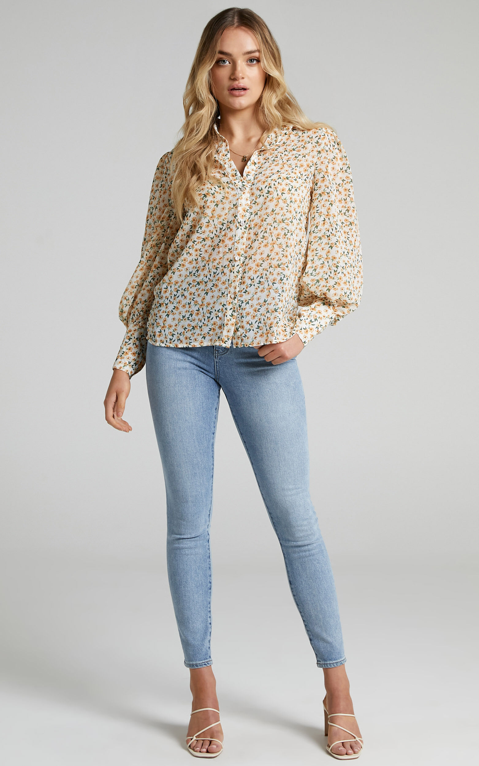 Seven Wonders - Yasmine Shirt in Yellow Floral - L, MLT1, super-hi-res image number null