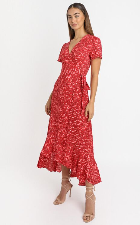 Zarah Dress in Red Spot