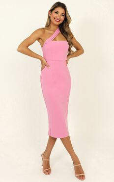 Never Lose Sight Dress In Hot Pink