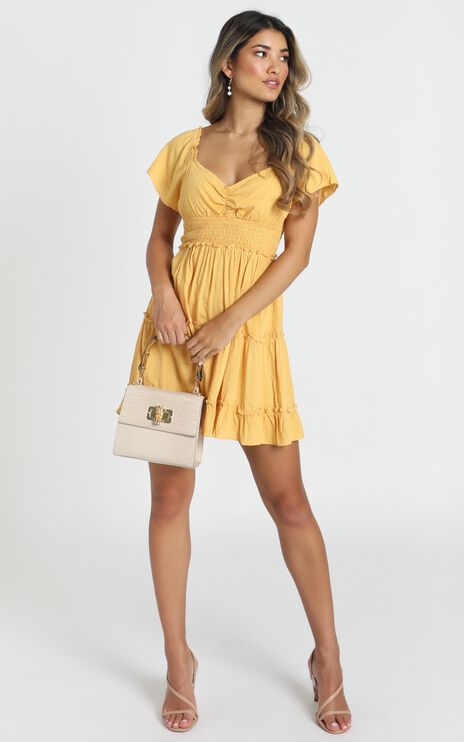 Hearts Content Dress In Yellow