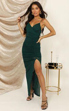 Turn Back Dress In Emerald