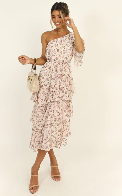 Taking Time Dress In Cream Floral