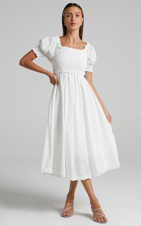 Burke Dress in White
