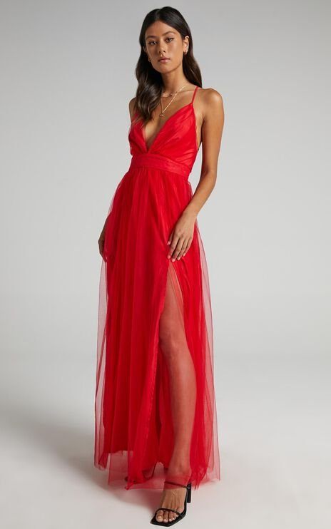 Tell Me Lies Dress In Red Tulle