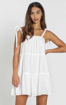 Archie Dress in white