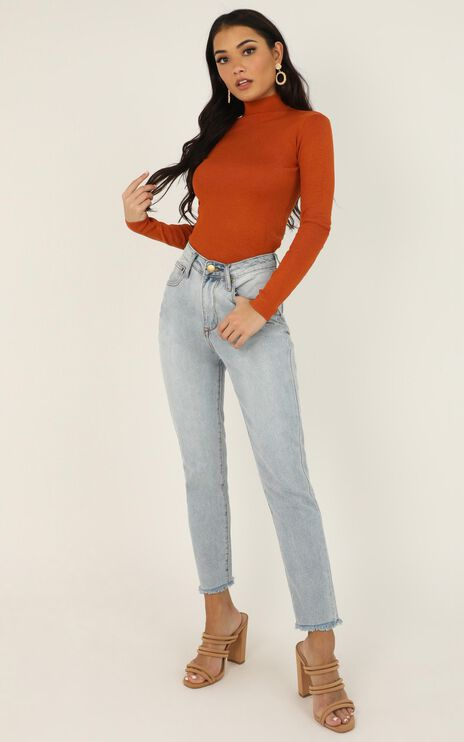 Lust For Life Knit Top in Rust