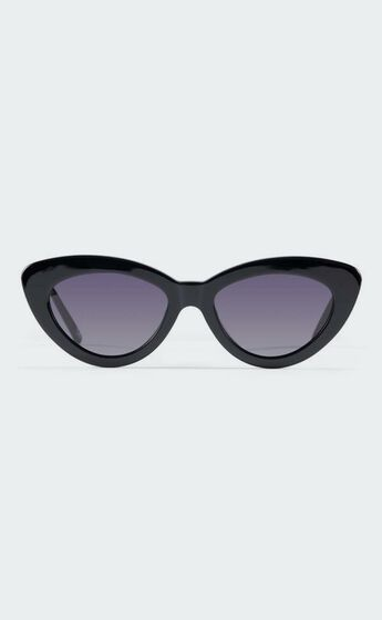 Luv Lou - The Harley Sunglasses in Jet Black