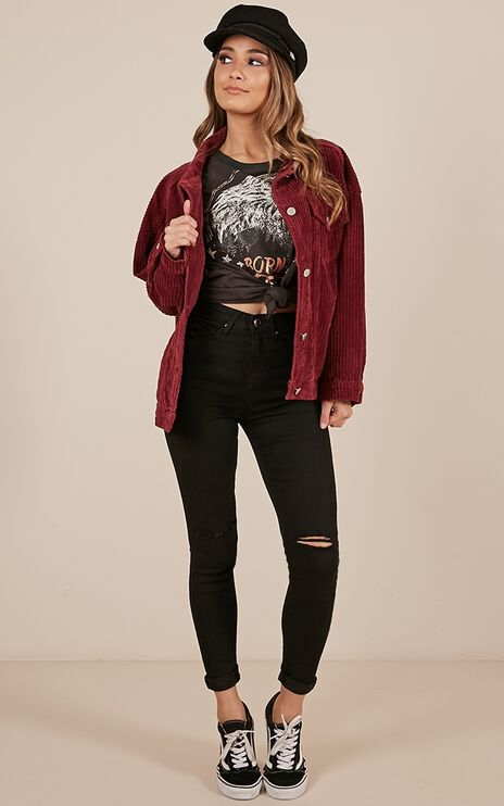 Superstitious Jacket In Wine