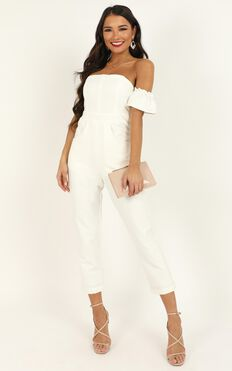 What Do I Have To Do Jumpsuit In White