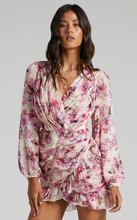Can I Be Your Honey Dress in Pink Floral