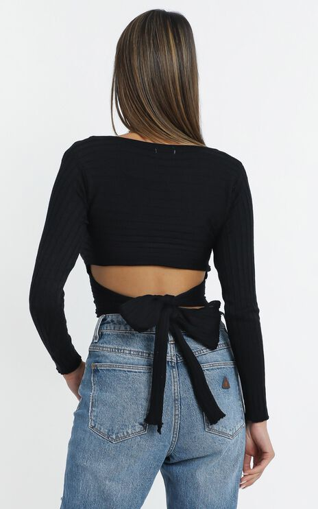 Brennan Knit Top in Black