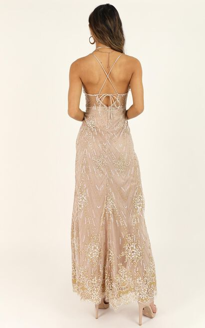 At A Crossroad maxi dress in gold - 10 (M), Gold, hi-res image number null