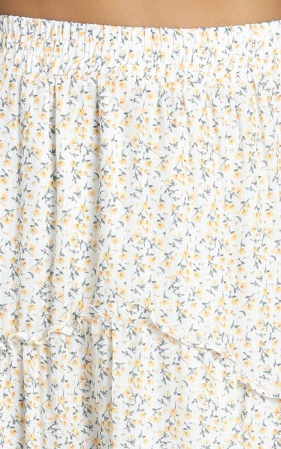 Know The Game Skirt in yellow floral - 12 (L), Yellow, hi-res image number null