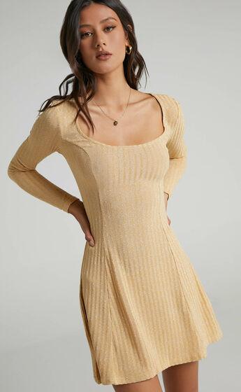 Wildly Dreaming Dress in Mustard Marl