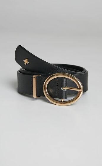 Peta and Jain - ARROW Belt in Black PU/Gold