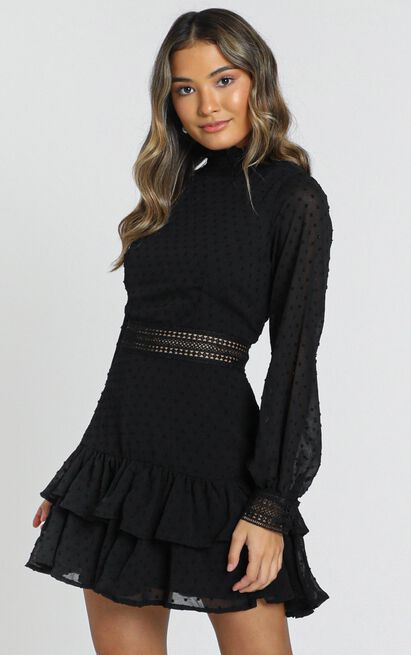 Are You Gonna Kiss Me Dress in black - 20 (XXXXL), Black, hi-res image number null