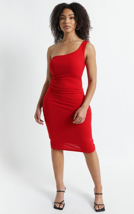 Got Me Looking Dress in Red
