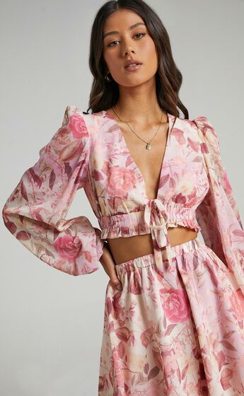 Marsail Two Piece Set in Soft Floral