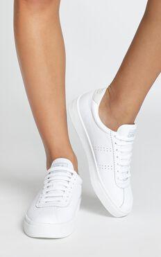 Superga - 2843 Clubs Comfleau In White Leather