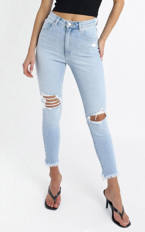 Abrand - A High Skinny Ankle Basher Jean in Kickin It