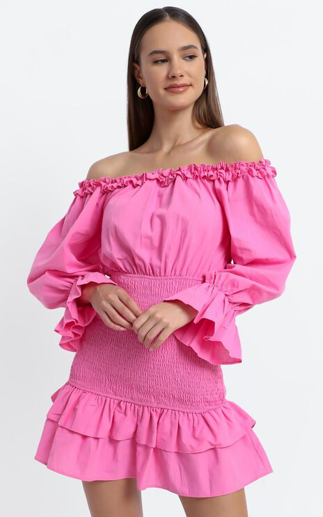 Lizabeth Dress in Hot Pink