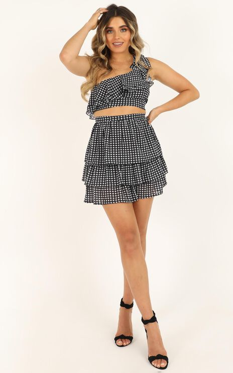 I Got You Hun Two Piece Set In Black Gingham