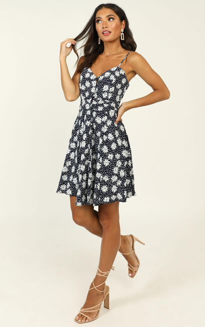 Island In The Sun Dress in navy floral - 20 (XXXXL), Navy, hi-res image number null
