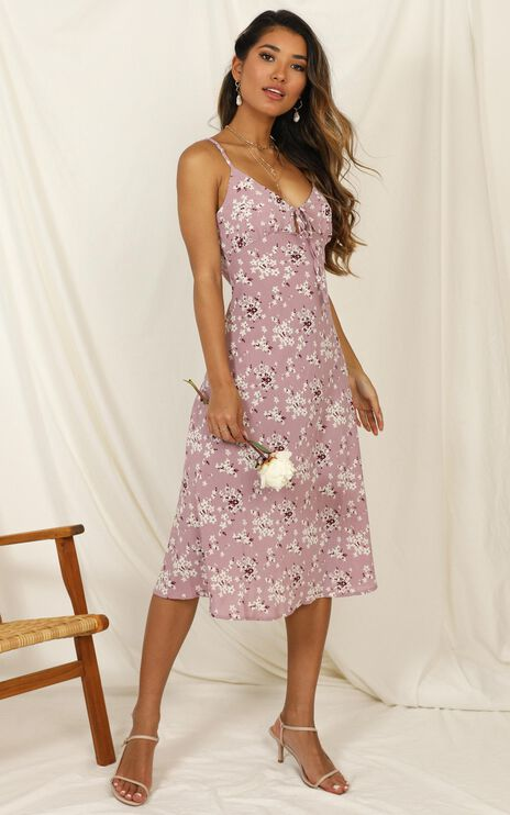 Toss The Dice dress In Lilac Floral