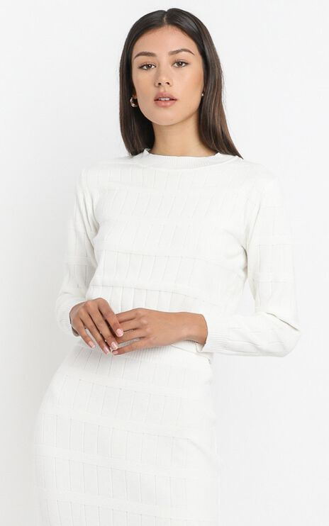 Amai Knit Top in White