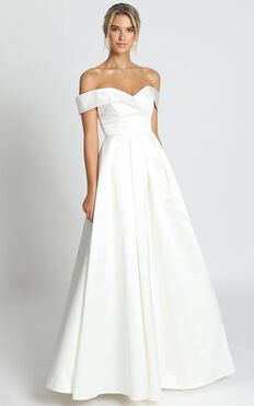 Sweet Innocence Gown In Ivory Satin