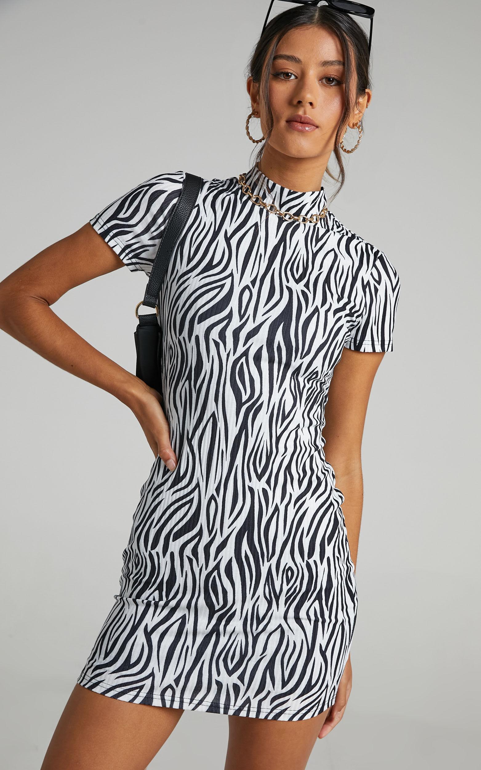Chibale Dress in Zebra Print - 06, MLT1, super-hi-res image number null