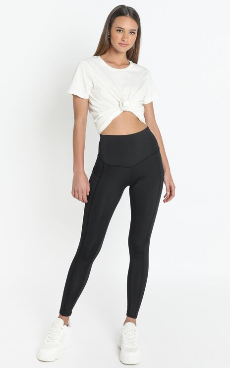 Evelyn High Waisted Activewear Tights in Black