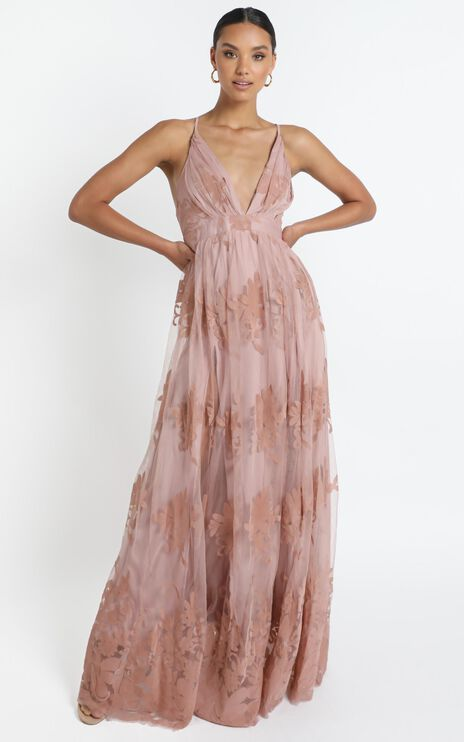 Promenade Maxi Dress In Blush