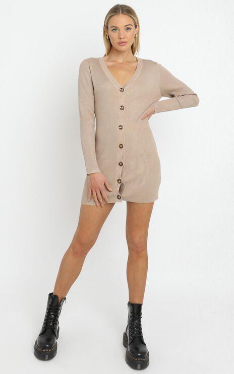 Earie Knit Dress in Beige