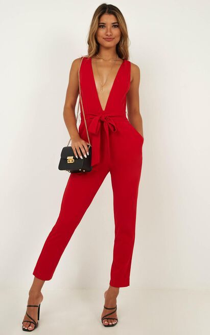Leave No Trace Jumpsuit in red - 6 (XS), Red, hi-res image number null