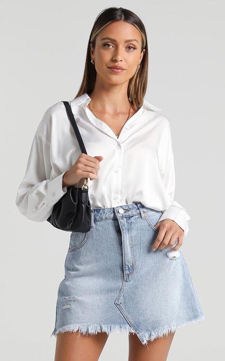 Abrand - A Aline Denim Skirt in Nancy