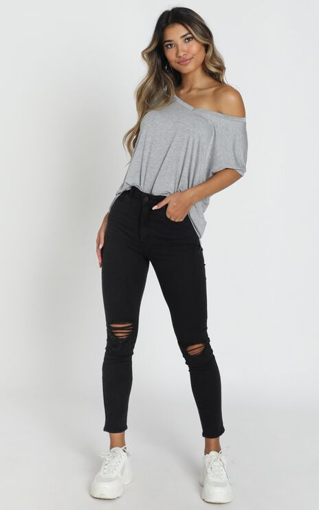 Back To Basics Top In Grey