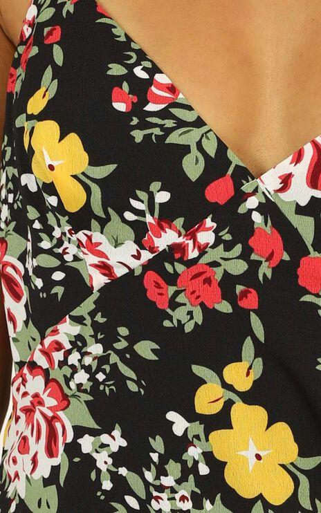 Spice Market Dress In Black Floral