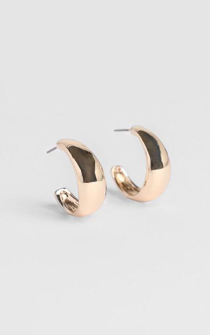 JT Luxe - Artisan Hoop Earrings in Gold, , hi-res image number null