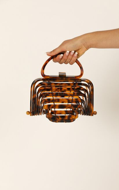 Want Me Back Bag In Tortoishell Resin, , hi-res image number null