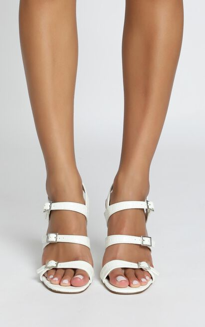 Therapy - Lynx Heels in white croc - 10, White, hi-res image number null