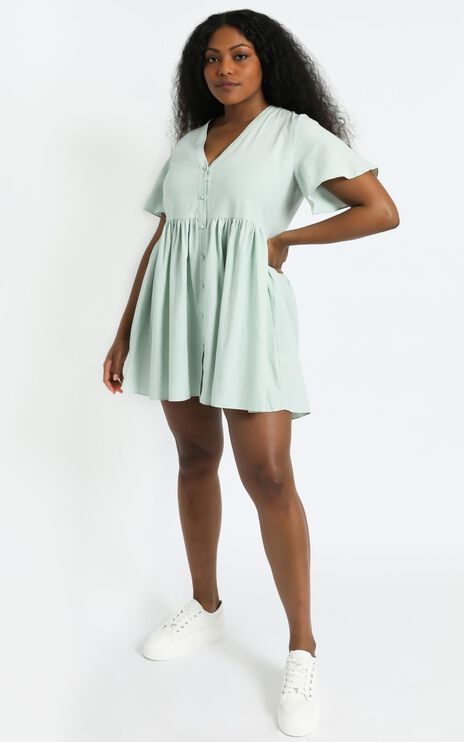 Staycation Dress in Light Sage