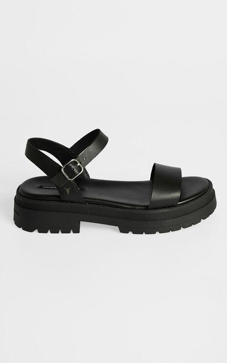 Windsor Smith - Linger Sandals in Black Leather