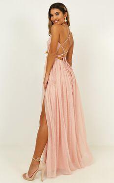 On Tonight Dress In Blush