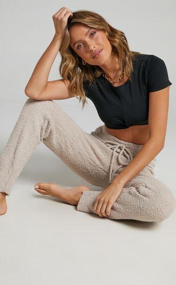Jesstin Knit Pants in Cream