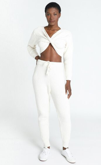 Davina Knitted Pants in Cream