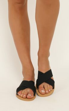 Billini - Majorca Slides In Black Nubuck