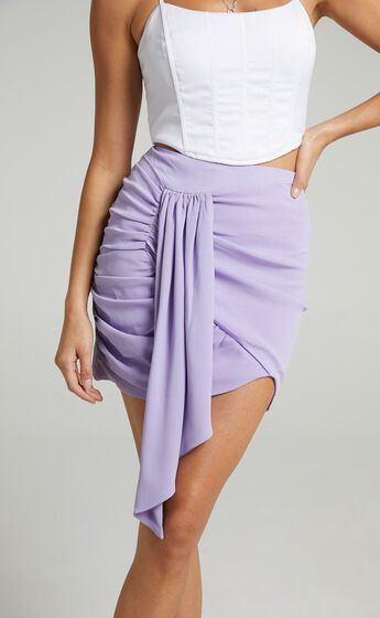 Bianca Mini Skirt in Lilac